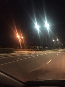 City, companies demonstrate LED street lights