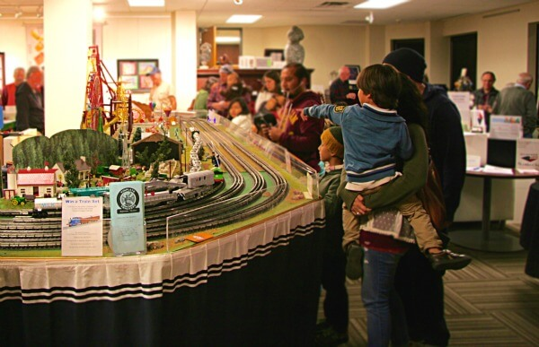 Hundreds get on board for model train kickoff event