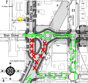 Traffic to be re-routed in Downtown beginning Thursday, March 31