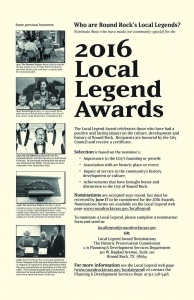 Local Legend Award nominations due June 17