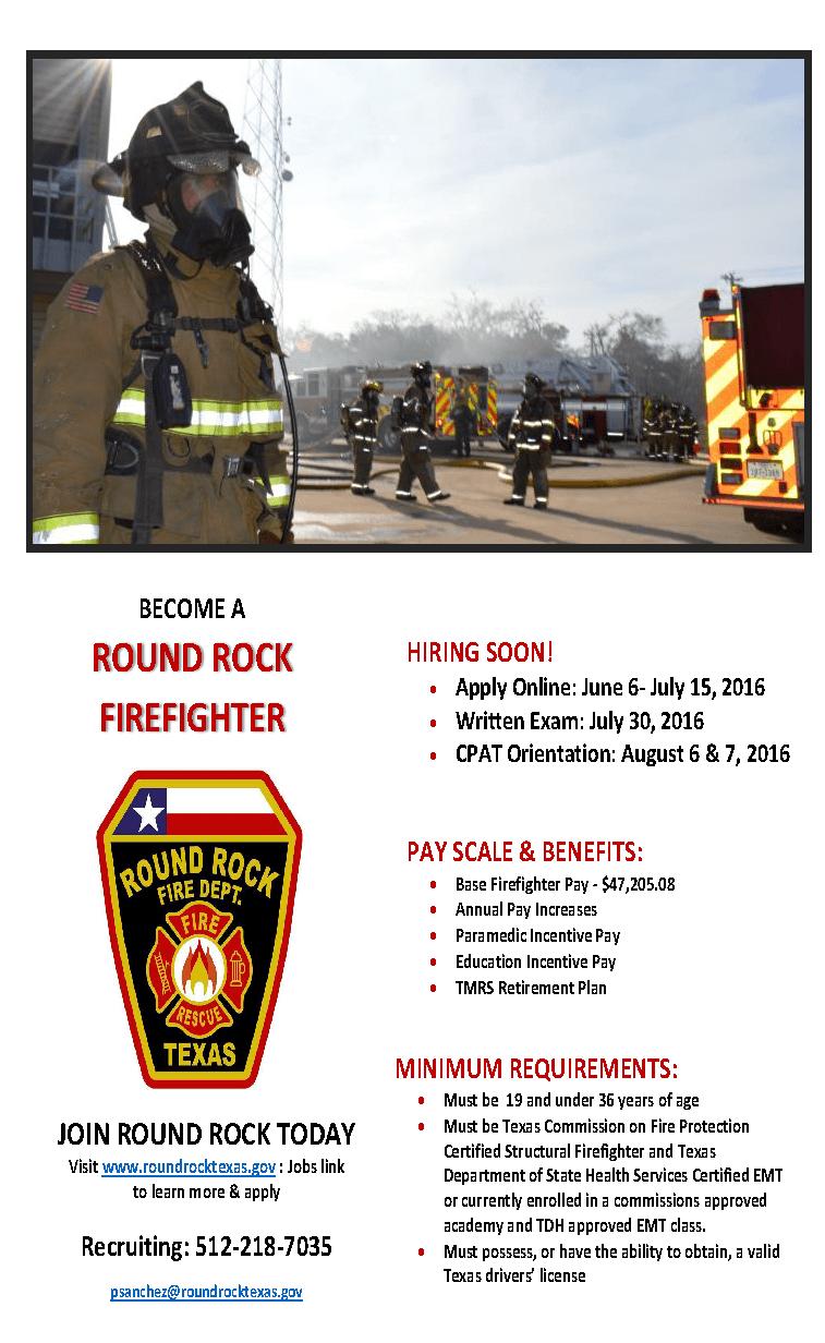Fire Department Hiring Firefighters – Stone Oak HOA