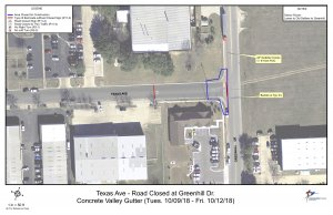 Road construction planned for Texas Avenue
