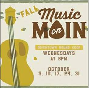 Fall Music on Main debuts Wednesday, Oct. 3