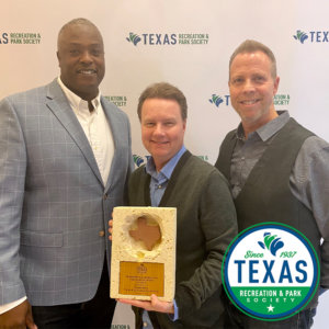 Parks and Rec awarded the state-wide Promotions & Marketing Excellence Award by the Texas Recreation and Parks Society