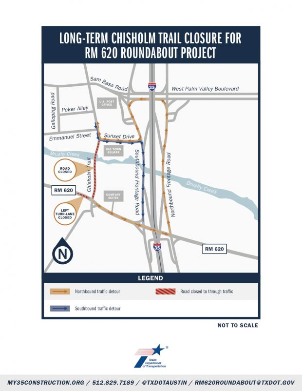 Chisholm Trail road closure scheduled July 13-early August