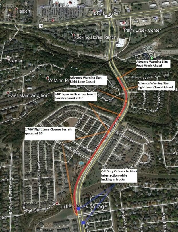 Lane closures scheduled for A.W. Grimes, Greenlawn Boulevards on Dec. 21